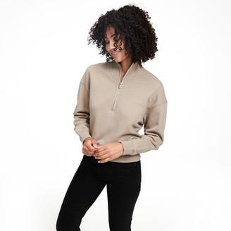 Naadam Fleece Quarter Zip Sweatshirt