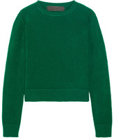 The Elder Statesman Cropped Cashmere Sweater - Green