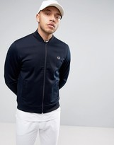 Fred Perry Bomber Neck Track Jacket In Navy