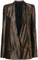 Haider Ackermann metallic striped blazer - women - Silk/Cotton/Nylon/Wool - 40