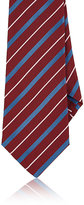 Kiton Men's Diagonal-Striped Silk Necktie-RED