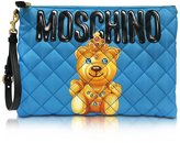 Moschino Women's B840582051341 Light Blue Polyamide Clutch