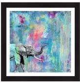 Alpha A Elephantastic by Clarissa Mesquita (Framed)
