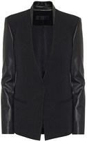 Helmut Lang Leather and wool blazer