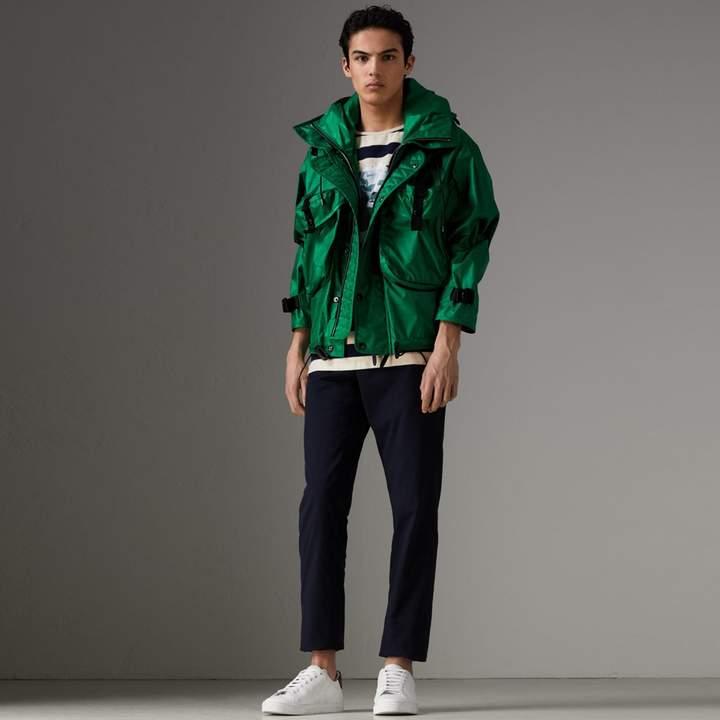 Burberry Packaway Hood Showerproof Jacket With Gilet