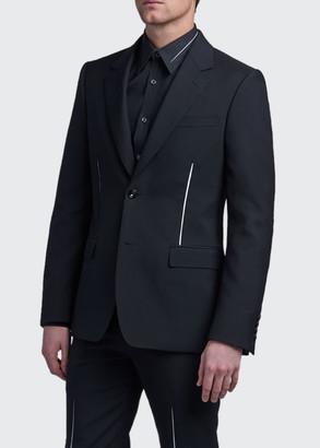 Alexander McQueen Men's Wool Slash Slide Sport Coat