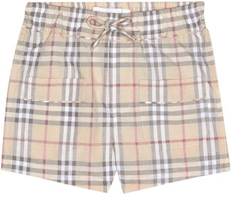 BURBERRY KIDS Baby Check cotton shorts