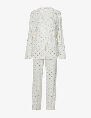Eberjey Gisele star-print stretch-jersey pyjama set