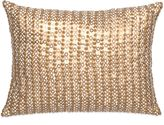 Amy Sia Midnight Storm Sequin Oblong Throw Pillow in Gold
