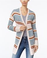 Hippie Rose Juniors' Striped Open Front Cardigan