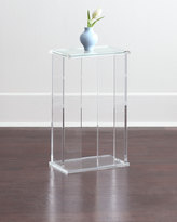 Interlude Chase Acrylic End Table
