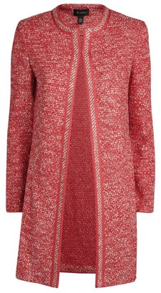 St. John Marled Tweed Longline Jacket