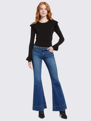 Alice + Olivia BEAUTIFUL LOW RISE BELL JEAN