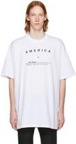 Raf Simons White 'America' Big Fit T-Shirt