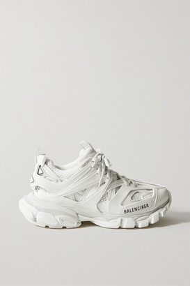 Balenciaga Track Logo-detailed Mesh And Rubber Sneakers - White