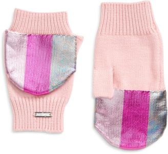 Bari Lynn Kids' Met Stripe Convertible Mittens