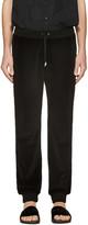 Versace Black Velour Lounge Pants