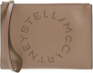Stella McCartney Perforated Logo Alter Nappa Faux Leather Pouch
