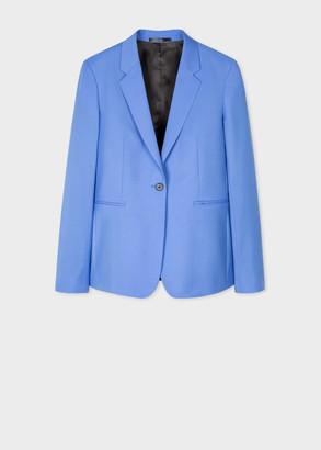 Paul Smith Women's Powder Blue Wool-Mohair One-Button Blazer