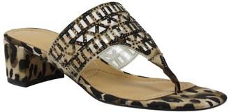 J. Renee Low Heel Thong Sandals - Chenelle