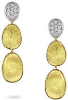 Marco Bicego Lunaria Diamond Three-Drop Earrings