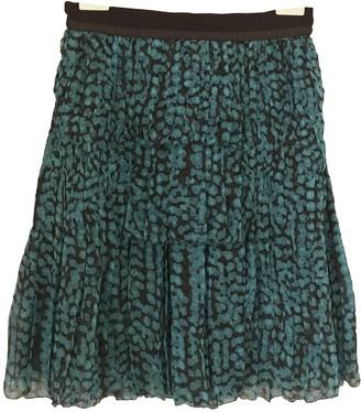 Louis Vuitton Turquoise Silk Skirts