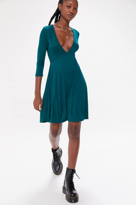 Urban Outfitters Mercer Plunge Mini Dress