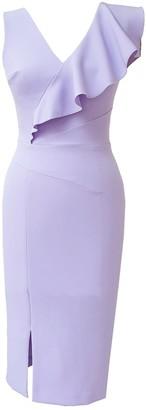 Mae Dress Heather Crepe