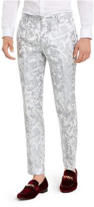 INC International Concepts Inc Men Slim-Fit Embroidered Floral Jacquard Suit Pants