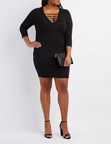 Charlotte Russe Plus Size Caged-Front Bodycon Dress