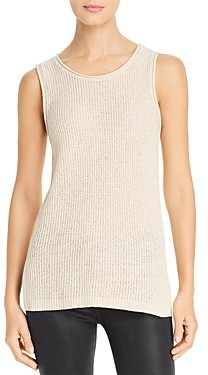 Marled Rolled Edge Sweater-Knit Tank