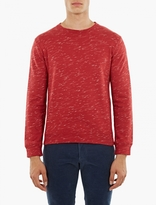 A.P.C. Red Cotton Jeremie Sweatshirt
