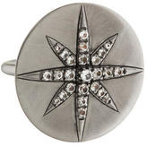 Elizabeth and James White Topaz Star Disc Ring
