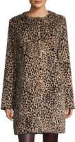Yves Salomon Women's Animal Print Rabbit Fur Coat