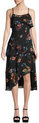 Rachel Roy Floral Ruffled Midi Dress