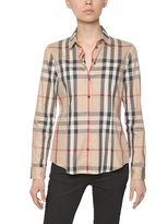 Burberry Checked Stretch Cotton Poplin Shirt