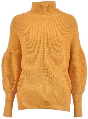 Goodnight Macaroon 'Sommie' Bishop Sleeves Turtleneck Sweater (4 Colors)