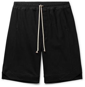 Rick Owens Karloff Cotton-Jersey Drawstring Shorts