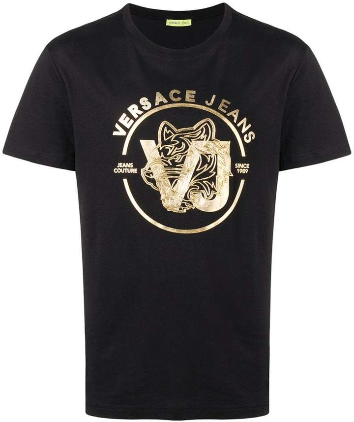 Versace gold logo print T-shirt