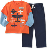 Kids Headquarters Little Boys' 2-Pc. Layered-Look T-Shirt & Pants Set