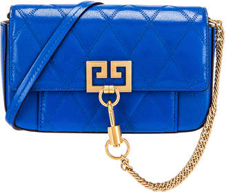 Givenchy Mini Pocket Quilted Leather Bag in Persian Blue | FWRD