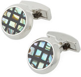 Bugatchi Mother-of-Pearl Grid Cuff Links