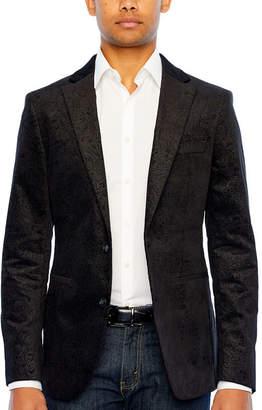 Jf J.Ferrar Mens Classic Fit Velvet Sport Coat