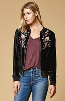 Somedays Lovin Erin Crushed Velvet Bomber Jacket