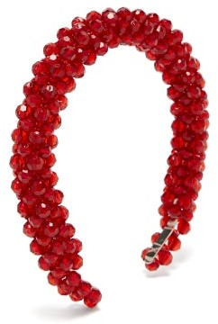 Shrimps Antonia Beaded Headband - Red