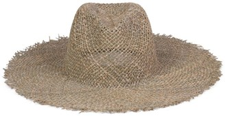 LACK OF COLOR Sunnydip Frayed Woven Fedora