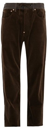 Junya Watanabe Leather-pocket Cotton-corduroy Trousers - Mens - Dark Brown