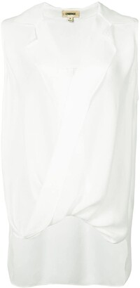 L'Agence V-Neck Sleeveless Blouse