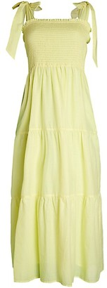 For The Republic Smocked Maxi Dress