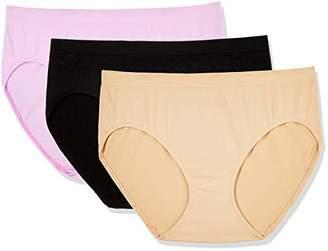 Layla's Celebrity 3 Pack Women's Seamless Hi-Cut Panties Nylon Spandex Underwear